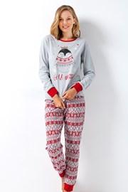 Dámske pyžamo Vivie sivé