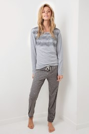 Dámske pyžamo Stars sivé
