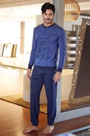Pánsky bavlnený komplet Pietro modrý