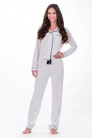 Dámske talianske pyžamo Hearts White