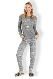 Dámske talianske pyžamo Winter Grey