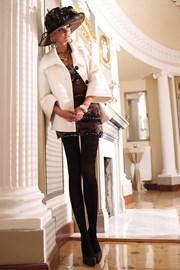 Elegantné pančuchové nohavice Glamour Soft Black
