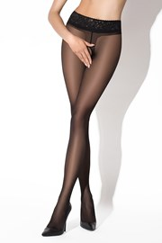 Erotické pančuchové nohavice Hip Lace Black