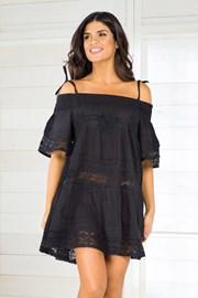Dámske talianske plážové šaty Iconique IC800 Black