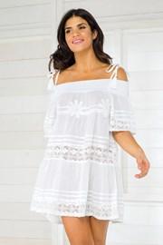 Dámske talianske plážové šaty Iconique IC800 White