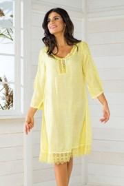 Dámske talianske plážové šaty Iconique IC8057 Yellow 9a6aef147b