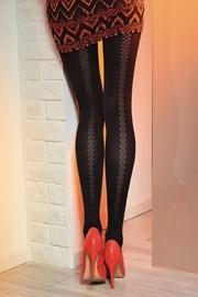 Vzorované pančuchové nohavice Loretta 121 50 DEN