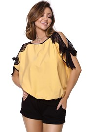 Dámske pyžamo Chiara žlté