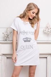 Dámska nočná košeľa Queen biela