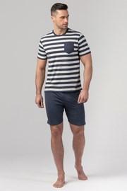 Pánske pyžamo RÖSSLI Navy Stripes