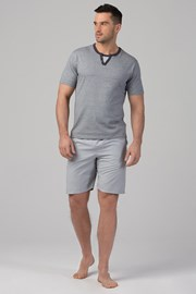 Pánske pyžamo RÖSSLI Stripes Grey