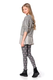 Dievčenské bavlnené pančuchy Sherry sivé