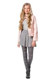 Dievčenské bavlnené pančuchy Solane sivé