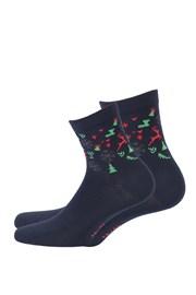 Dámske vzorované ponožky 988