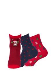 3 pack dámskych vzorovaných ponožiek 999