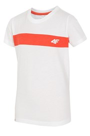 Detské bavlnené tričko White 4f