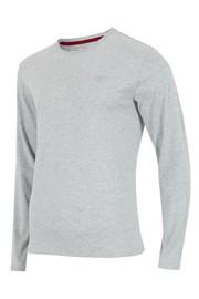 Pánske tričko 4F sivé dlhé rukávy