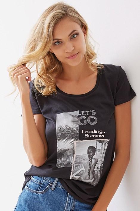 Dámske tričko Rosia čierne