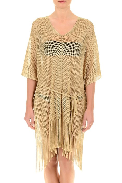 Dámske luxusné talianske plážové šaty Gold  dd0b194e0f