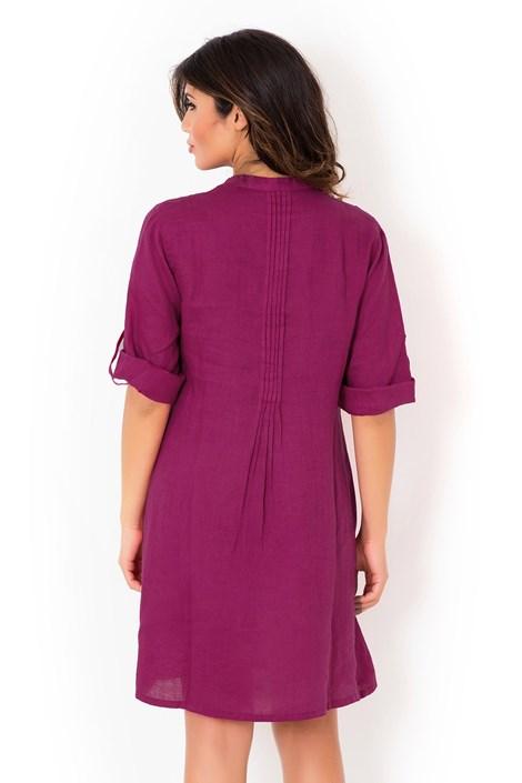Dámske ľanové letné šaty David Beachwear Fuksia 05  168f28bed91