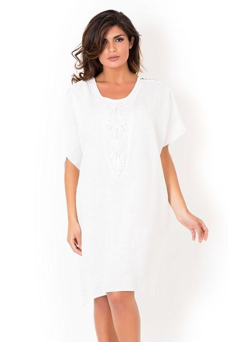 Dámske ľanové plážové šaty David Beachwear White