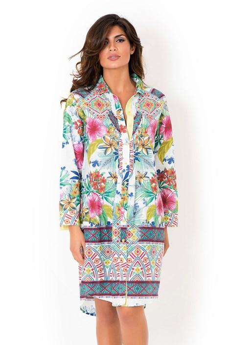 Dámske talianske košeľové šaty David Beachwear Rajasthan