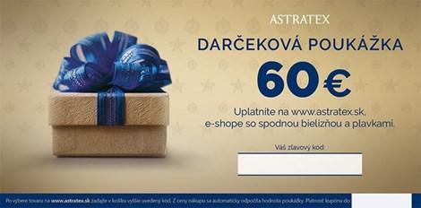 Darčekový kupón 60 EUR