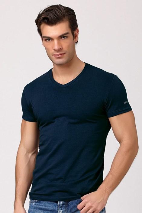 Pánske talianske tričko Enrico Coveri ET1501 Jeans bavlnené