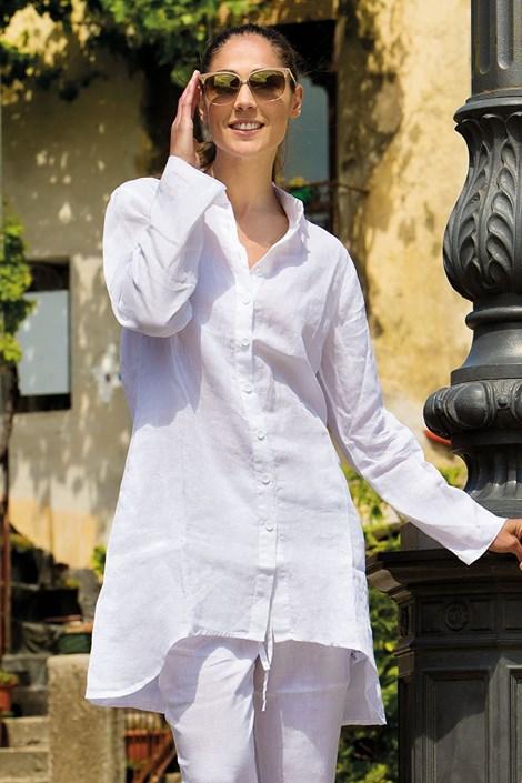 Dámske letné košeľové šaty Sherie White