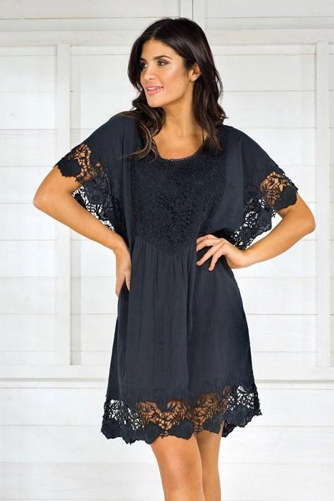 Dámske talianske letné šaty Iconique IC8013 Black