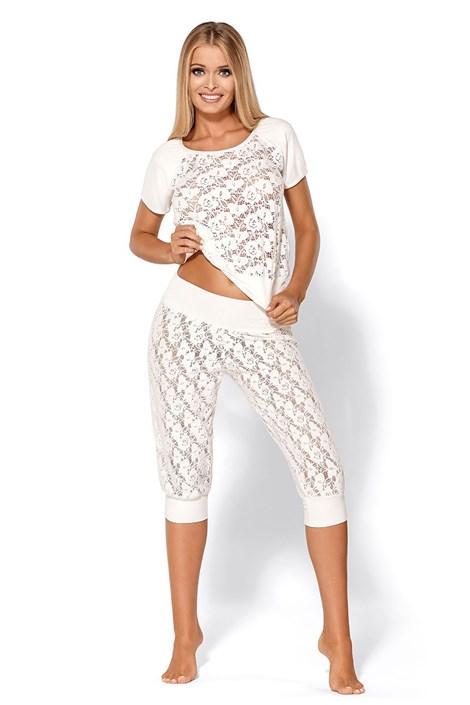 Zvodné luxusné pyžamo Thelma Ecru