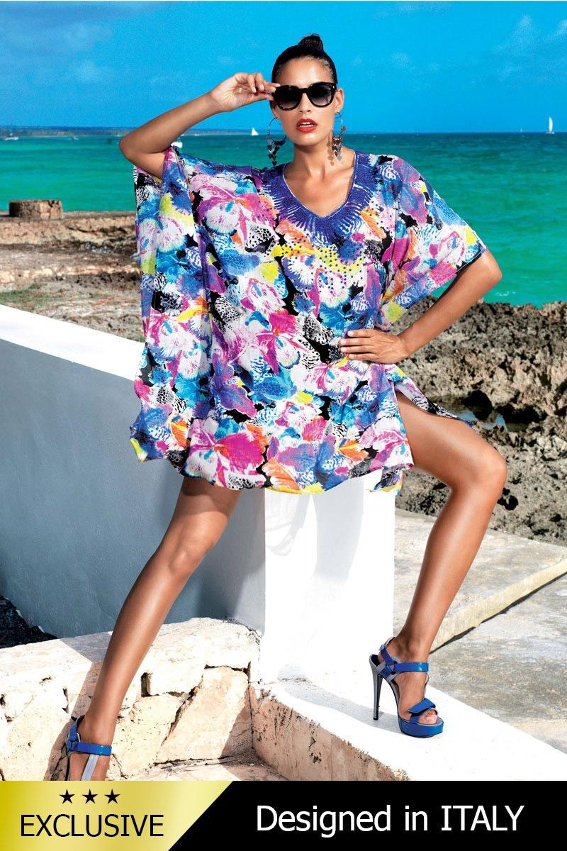 Luxusné talianske plážové šaty pareo 5601C3  acbfdda1b7