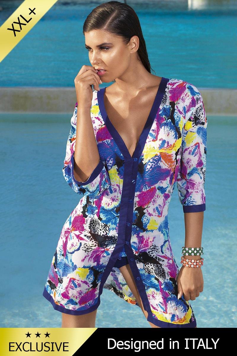 Luxusné talianske plážové šaty - pareo 5602E2  96bf482062