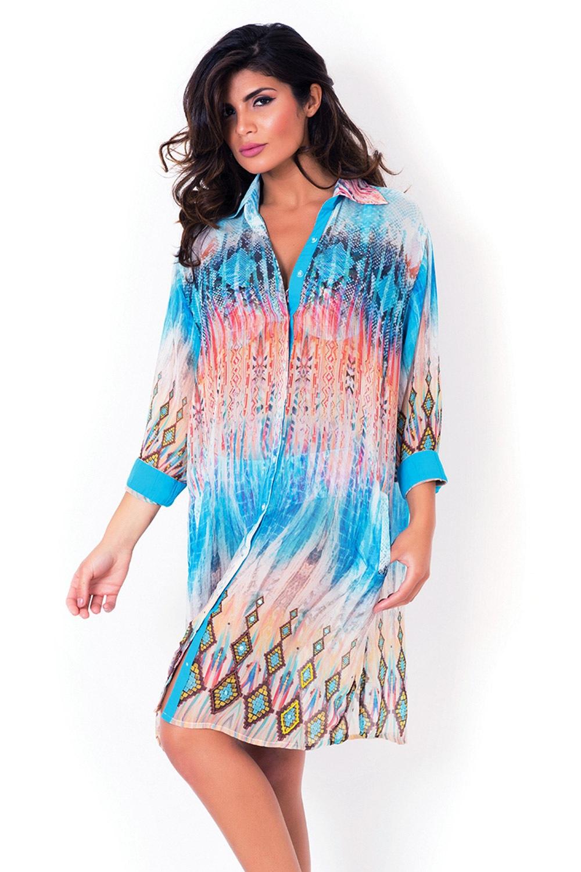 Dámske talianske plážové košeľové šaty David Mare 243fbd6234
