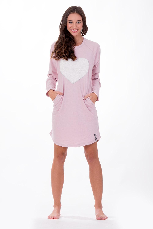 32f76f51a253 Dámska talianska nočná košeľa Softly Pink