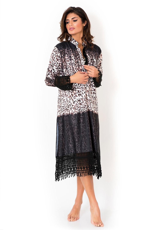 b1ad03561f12 Dámske talianske košeľové šaty Miradonna