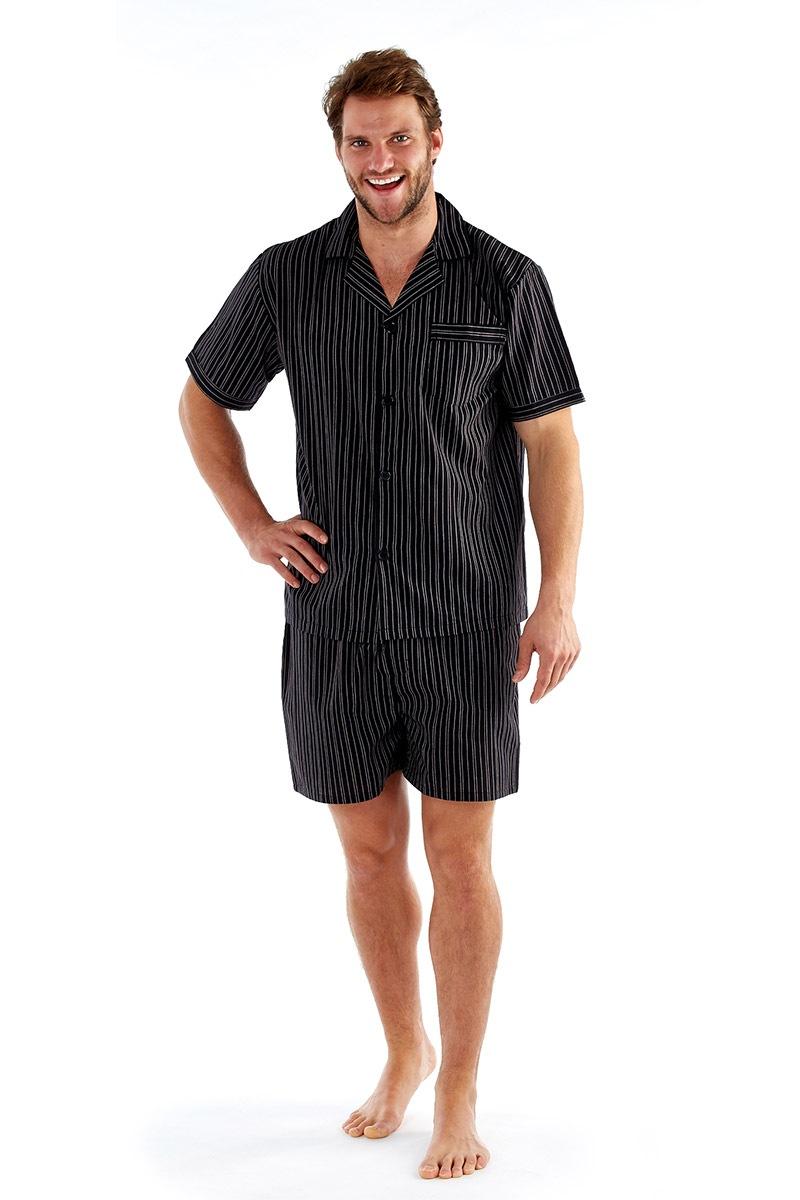 Pánske pyžamo Harvey Black Stripe