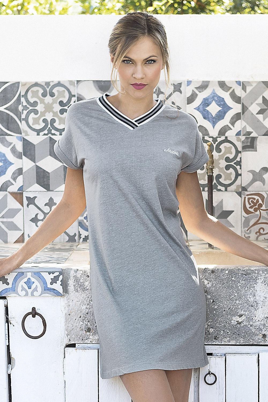 0fae59f53fee Dámske letné šaty Corfu sivé