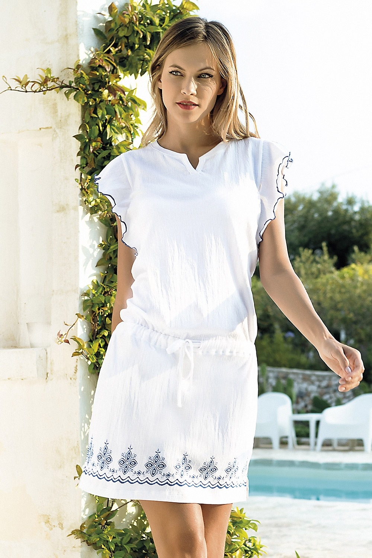 54f7e1c048f0 Dámske letné šaty Santorini biele