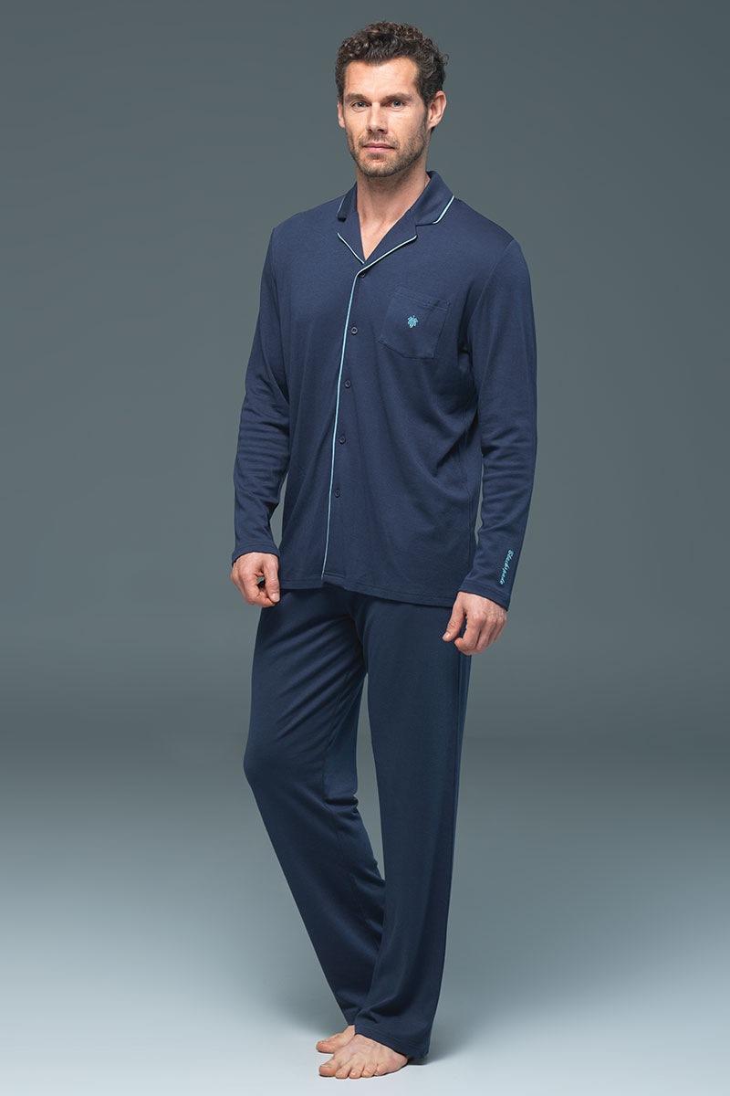 Pánske pyžamo BLACKSPADE Lion Navy modalové