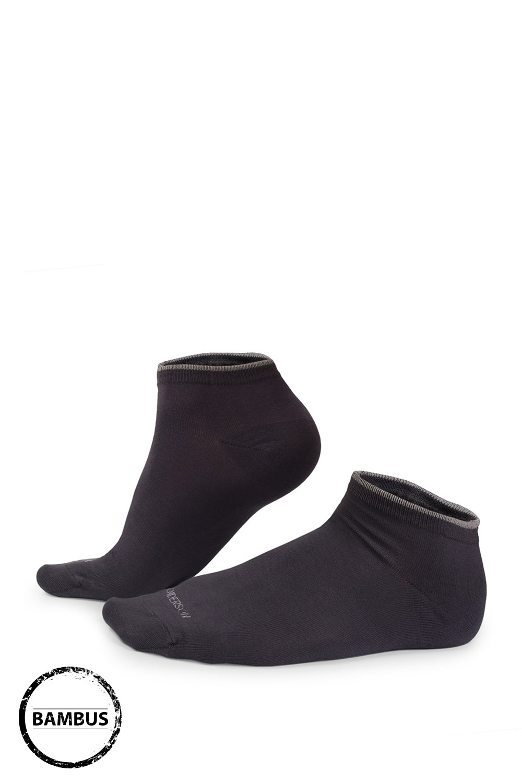 Bambusové ponožky Eloi nízké sivé