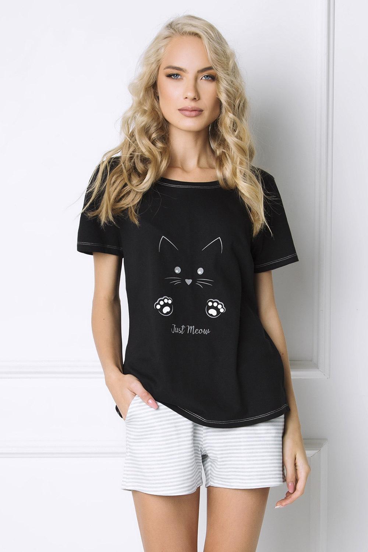Dámske pyžamo Cat Woman krátke
