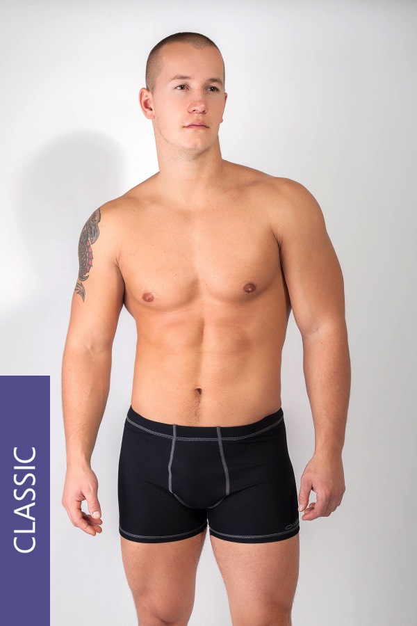Pánske thermo boxerky WINNER Classic6 Silver Plus
