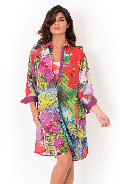 75c62734f7e8 Dámske talianske plážové košeľové šaty David Mare