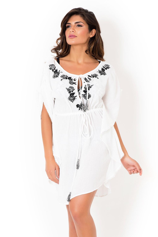 8878313d5 Dámske talianske letné šaty David Mare, Peyote White