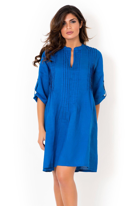 c75e9902033c Dámske ľanové letné šaty David Beachwear Blue 05 ľanové eshop David ...