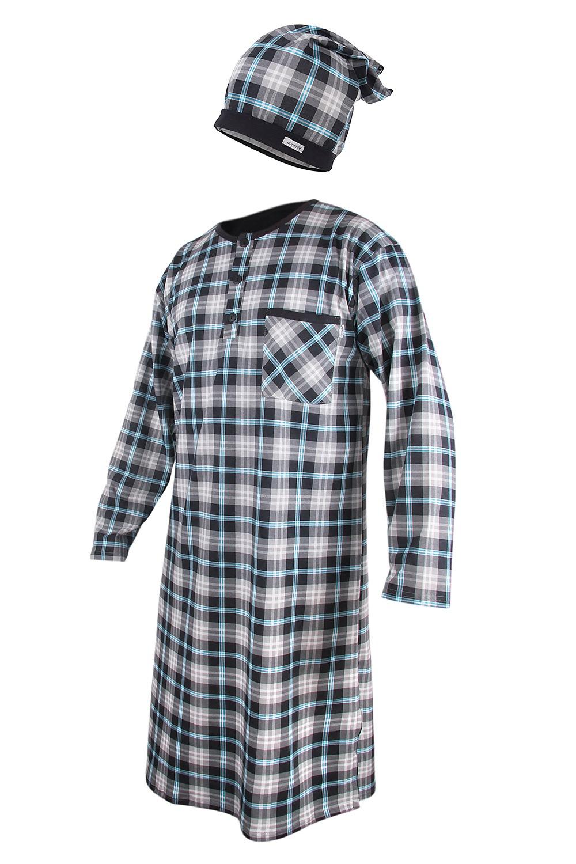 4ebd0cc6beb5 Pánska nočná košeľa s čiapočkou CORNETTE Dark Blue