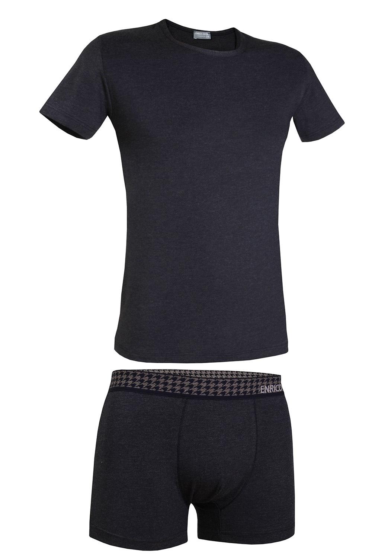Pánsky komplet Enrico Coveri 1625B tričko a boxerky