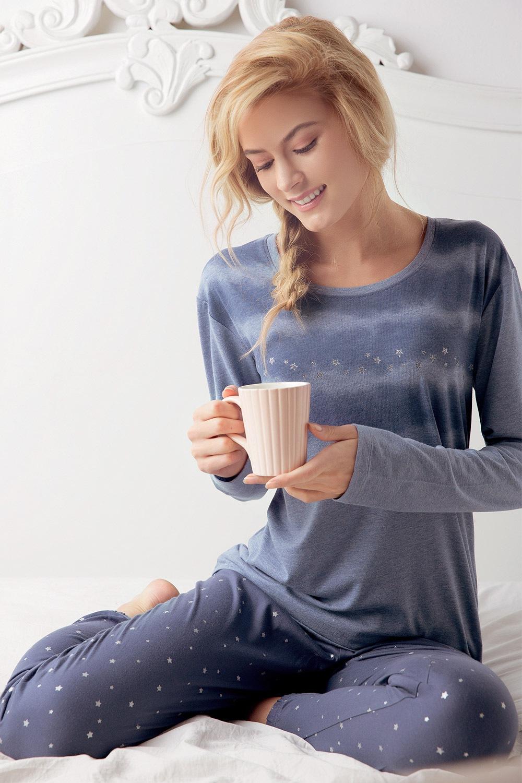 Dámske pyžamo Stars modré 1cbbead11ca