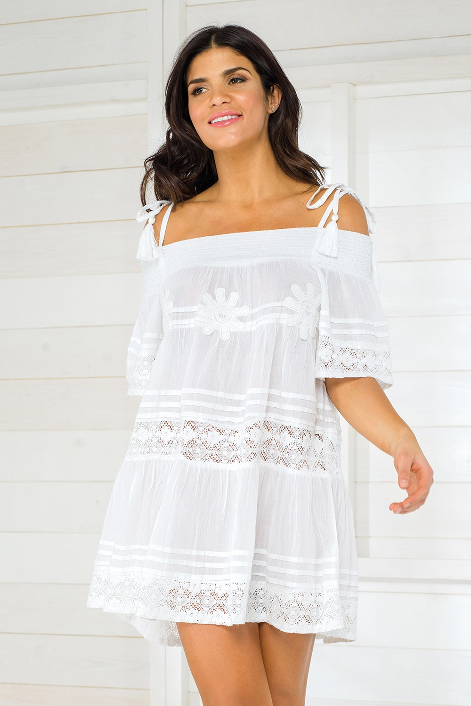 Dámske talianske plážové šaty Iconique IC800 White d1506cb446b